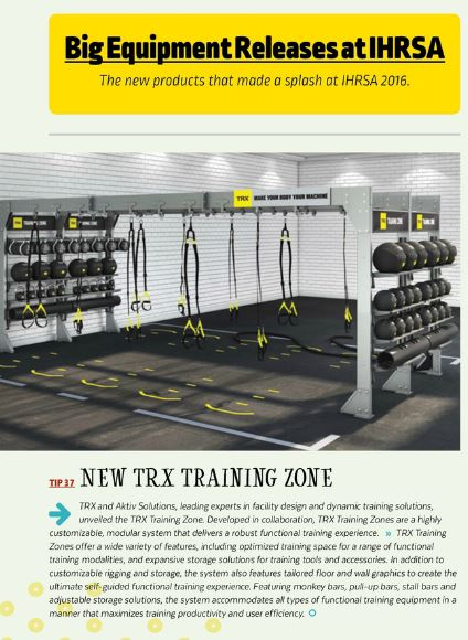 Club Solutions Magazine, TRX Training Zone