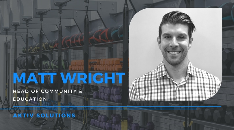 Matt Wright Joins Aktiv Solutions as Head of Community & Education