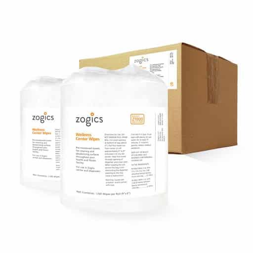 Zogics Wellness Gym wipes for health club hygiene protocol