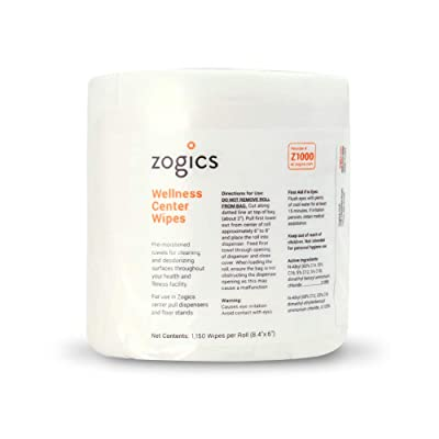 Zogics Wellness Gym Wipes for gym cleaning and hygiene
