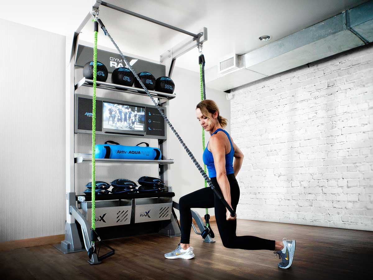 Gym Rax and Aktiv Virtual solution for gym storage, suspension, and digital fitness training