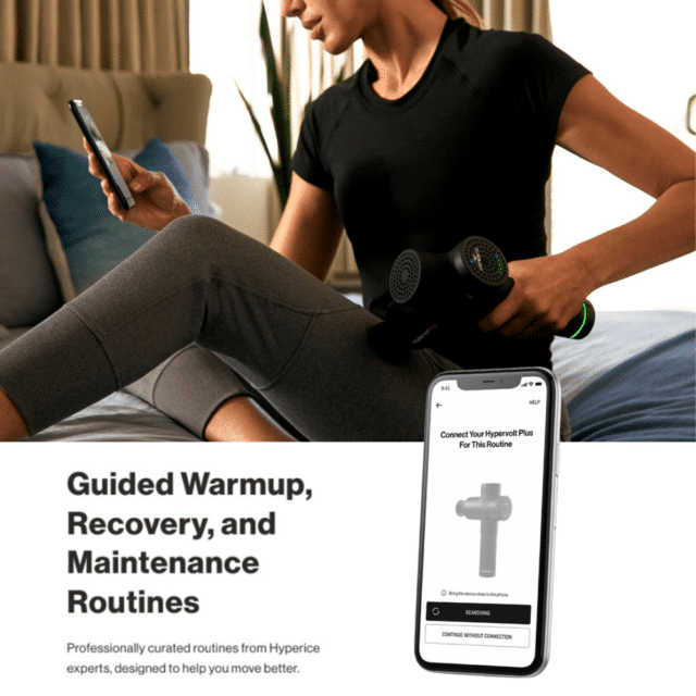 Hyperice app for guided massage therapy percussion with Hypervolt plus bluetooth - aktiv recovery